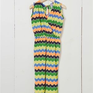 Other - Girls Multi-Color Chevron Striped Jumpsuit